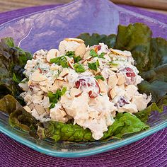 Neiman Marcus Chicken Salad Recipe Salads, Lunch with diced chicken, light mayonnaise, diced celery, purple grapes, fresh parsley, salt, pepper, whipping cream, toasted slivered almonds