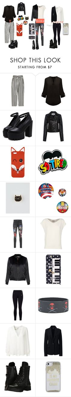 """BTS Cover Group"" by shes-kinda-hot on Polyvore featuring River Island, IRO, Maison Kitsuné, Lazy Oaf, Badge Bomb, Marvel, True Religion, Alberto Biani, Glamorous and Dolce&Gabbana"