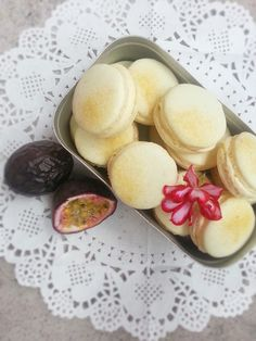 Macarons med passionsfrukt