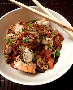 Shrimp and Bacon Ramen