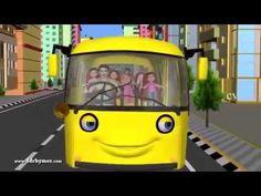 Canciones Infantiles en Espanol y Ingles para Ninos Las Ruedas Del Autob...