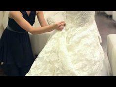 ▶ Adding Bustles to a Wedding Dress : Wedding Dresses & Bridal Fashion - YouTube
