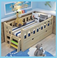 withstorage comforter toddler simple plans house frame easy girl rail and diy bed boy Easy and Simple DIY Toddler BedYou can find Toddler bed and more on our website Diy Toddler Bed, Boy Toddler Bedroom, Toddler Rooms, Baby Boy Rooms, Toddler Boy Room Ideas, Toddler Bed Frame, Kids Beds For Boys, Kid Beds, Beds For Toddlers