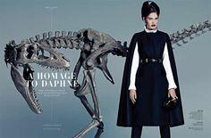 S Magazine Editorial #Dinosaur #Fashion http://trendhunter.com