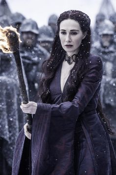 Melisandre flambes Shireen. I never thought Stannis would let her do that