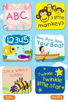 kidzongs, six animated kid songs