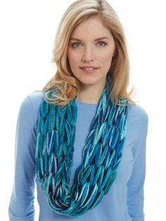 I-Cord Arm Knit Cowl   Yarn   Free Knitting Patterns   Crochet Patterns   Yarnspirations