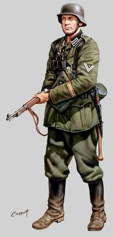 Military Photos, Military Art, Military History, Ww2 Uniforms, German Uniforms, Military Uniforms, German Soldiers Ww2, German Army, Military Weapons