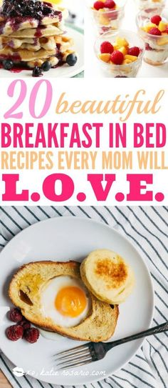 Happy Mother's Day! Show your mom some love! These are easy breakfast in bed recipes that loved ones can make. It's so tasty and easy that kids can make them. How cool is that?! This is brilliant because your husbands or partners can just follow along and make you something special on the best day ever! #breakfast #breakfastrecipes #breakfastinbed #mothersday #mothersdaygifts