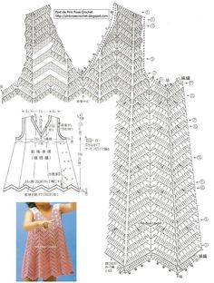 toddler dress with chart