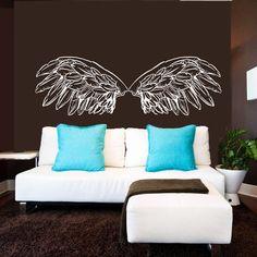 Wall Decal Vinyl Sticker Decals Home Decor Art Mural Big Wings Bird Angel God Guardian Nursery Children Kids Bedroom Dorm