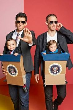 Candidates and the secret service. Get this and more family halloween costume ideas here.