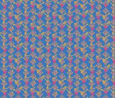 Wonderland Blue fabric by viewfromtheskye on Spoonflower - custom fabric