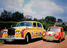 John Lennon's Rolls-Royce and George Harrison's 1966 Mini Cooper S