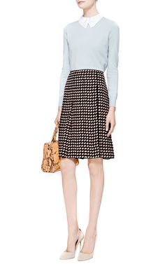 Contrast Collar Rib-Knit Top by Carven - Moda Operandi
