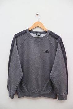 da8892ffcf90e Vintage ADIDAS Sportswear Small Logo Gray Pullover Sweater