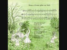 Nous n'irons plus au bois, interprétée par Les Quatre Barbus et Lucienne Vernay- 1958 (Extrait de Rondes et chansons de France Vol. 8) Téléchargements possib...