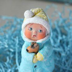 Последняя девочка в этом году #ватнички_olis  Одомашнена)) . #елочнаяигрушка #елочнаяигрушкаручнойработы #игрушкаизваты #ватнаяигрушка #новыйгод #интерьер #украшение #ручнаяработа #ватноепапьемаше #игрушкаиздетства #подарокнановыйгод #подарок