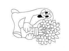 omalovánky krteček - Hledat Googlem Mole, Digital Stamps, Coloring Pages, Mandala, Snoopy, Drawings, 4 Years, Fictional Characters, Children