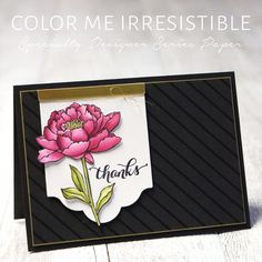 By Teneale Williams | Featuring You're Got This and Color Me Irresistible DSP from Stampin' Up!  | INKspired Blog Hop #INK018