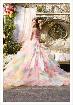 Homemade Ranch Dressing - A Family Feast® - New Ideas Rainbow Wedding Dress, Barbie Wedding Dress, Best Prom Dresses, Bridal Dresses, Formal Dresses, Pretty Outfits, Pretty Dresses, Fantasy Gowns, Fairytale Dress