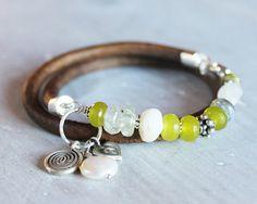 Revitalize Gemstone Bracelet Peridot by ChickpeaDesignStudio