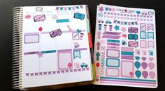 Purple, April, Organizing Stickers, Fits Erin Condren and others, Kiss Cut, Life Planner Stickers, Scrapbook, Planner by LillyTop on Etsy