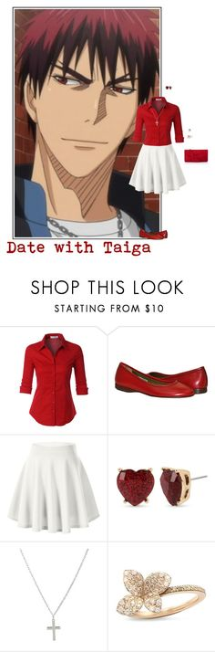 """Date with Taiga"" by itzelperaltadelacruz ❤ liked on Polyvore featuring LE3NO, cutekawaii, Betsey Johnson, Pasquale Bruni and L.K.Bennett"