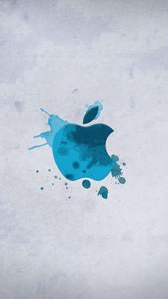 Blue, aqua, light, logo, abstract, apple, wallpaper, iPhone, clean, beauty, colour, iOS, minimal, iPhone 7, iPhone 6
