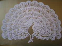 Einfach nur wow Paper Cutting Patterns, Paper Cutting Templates, Kirigami, Paper Art Design, Cut Out Art, Metal Art Projects, Paper Quilling Designs, Paper Lace, Bird Patterns