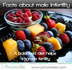 A balance diet helps improve fertility.