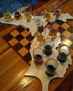 sampling some Michigan beers Oak Restaurant, Beer Sampler, Local Brewery, Beer Bar, Best Beer, Simple Pleasures, Craft Beer, Brewing, Wine Pairings