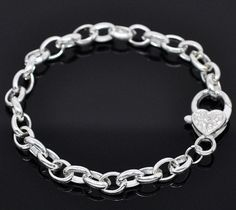 5 Link Chain Bracelets Bright Silver Terrific by BohemianFindings