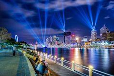 Brisbane, QLD City of Lights at the annual Brisbane festival.