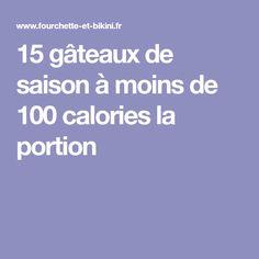 15 gâteaux de saison à moins de 100 calories la portion