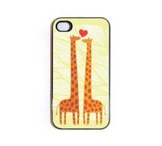 Amazon.com: iPhone 4/4s Case - Giraffe Design No. 05 Giraffe Couple: Cell Phones & Accessories