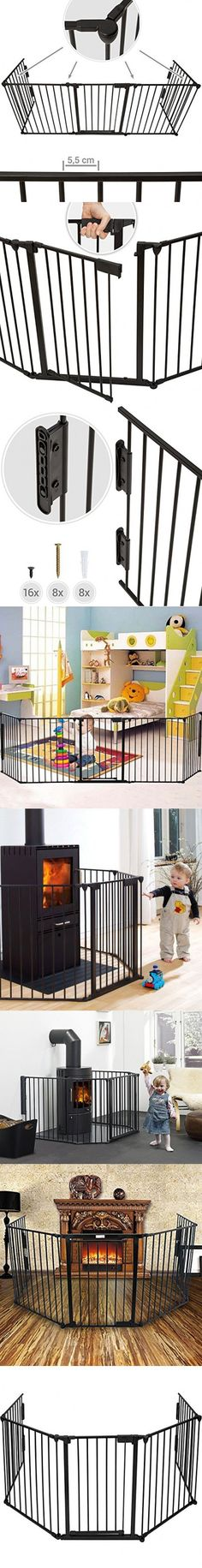 Windaze Safety Fireplace Fence Guard Hearth Gate For Baby Pet Dog Cat BBQ Metal Fire Gate Protection Fireguard 5 sides