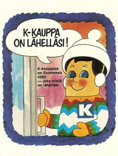 """K-kauppa on lähelläsi"", Prince Caspian, Old Commercials, Good Old Times, Old Ads, Back In The Day, Time Travel, Finland, Childhood Memories, Retro Vintage"