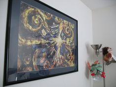 Doctor Who  Van Gogh's Exploding Tardis 36x24 Poster TV Show Art Print  (36x24) Black Solid Wood Framed Poster  $52.74