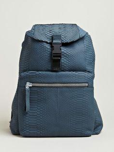 Lanvin Men's Python Backpack
