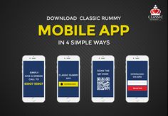 Enjoy the Fun of Playing Rummy Anytime Anywhere! Download Classic Rummy Mobile App In 4 Simple Ways.  #rummy #classicrummy #Indianrummy #rummyonline #cardgames #onlinegames #mobileapp #androidapp #classicrummyapp #mobilegames #androidmobile #freecash #freegames #freeonlinegames Play Online, Online Games, Rummy Online, Getting Played, Game App, Love Is Free, Table Games, Mobile Game, Mobile Application