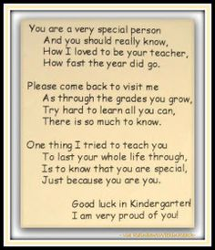 photo of: Preschool End of Year Poem at RainbowsWithinReach