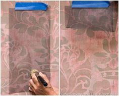Decorative Painting Tutorial creating a Fabric Texture Wall Finish using Wall Stencils from Royal Design Studio