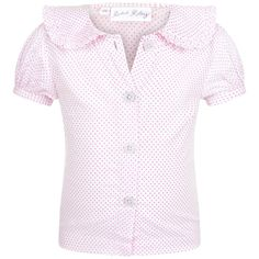 Rachel Riley Baby Girls Pink Spotted Blouse