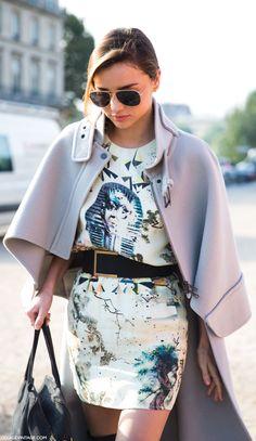 #street #fashion Miranda Kerr print dress @wachabuy