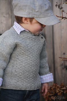 Inspiration For A Child's Knit, Pullover - maallure Baby Knitting Patterns, Knitting For Kids, Sewing For Kids, Estilo Glamour, Pull Bebe, Knit Baby Sweaters, Knitting Wool, How To Purl Knit, Ethical Clothing