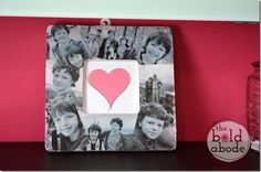 Picture-picture frame tutorial with free heart printable