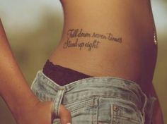 """Fall down seven times, Stand up eight."" - i LOVE it! may very well be my next ;) decisions!"