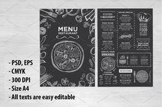 restaurant flyer Food menu, restaurant flyer by BarcelonaShop on creativemarket Menu Restaurant, Smoke Restaurant, Cafe Menu, Restaurant Recipes, Menu Illustration, Food Illustrations, Design Food, Design Design, Graphic Design