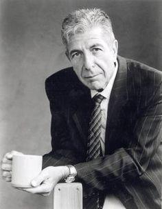 Leonard Cohen Drinking Tea